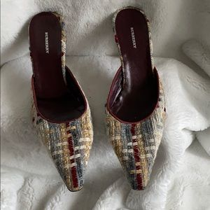 Burberry Tweed Pointed Toe Mule